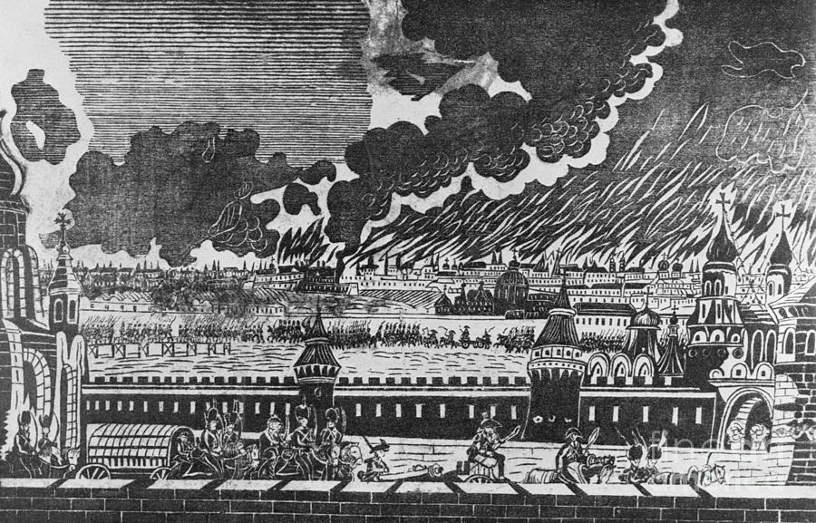 The Burning Of Moscow In 1812 Print Photograph by Bettmann