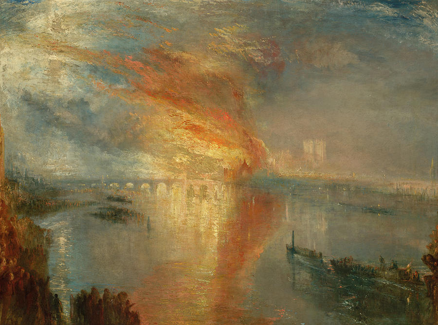 Joseph Mallord William Turner Painting - The Burning Of The Houses Of Lords And Commons, 1834 by Joseph Mallord William Turner
