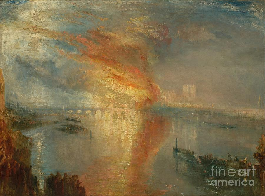 The Burning Of The Houses Of Lords Drawing by Heritage Images