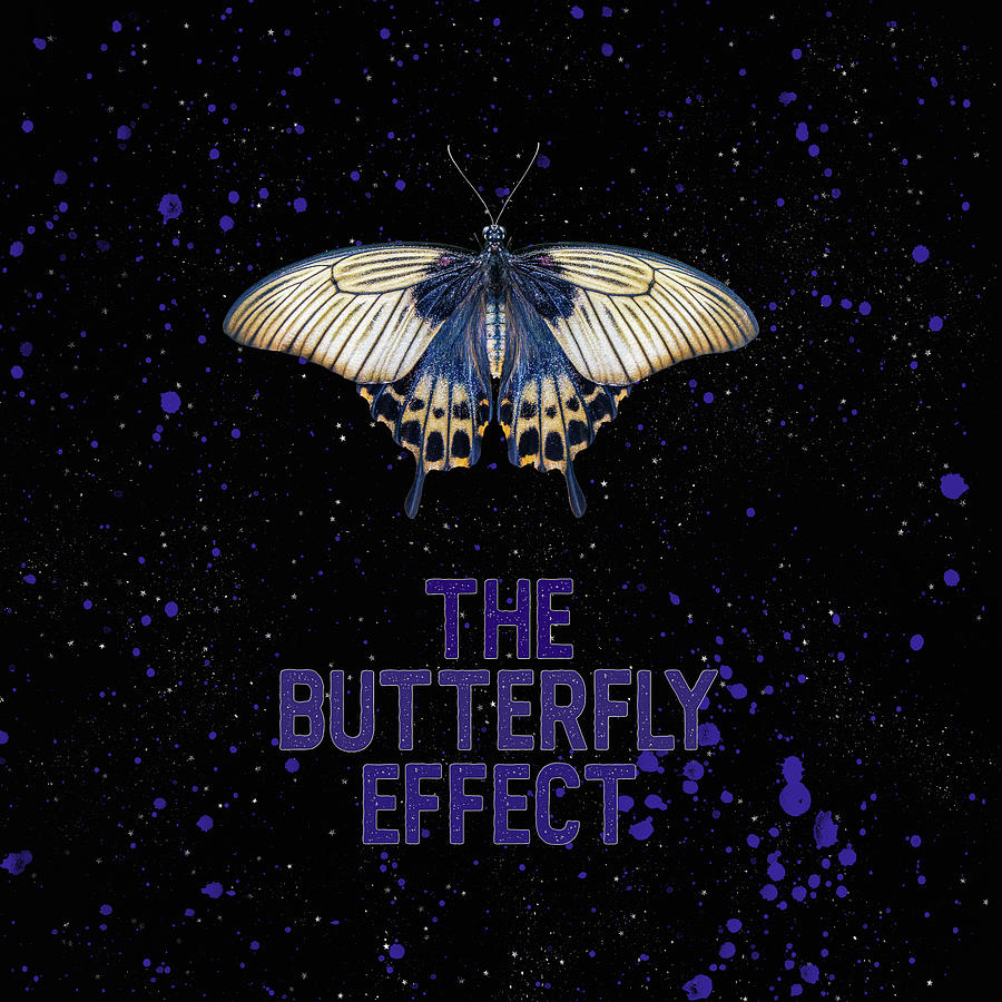 Typography Mixed Media - The Butterfly Effect II by Amanda Lakey