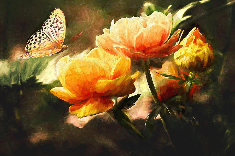Butterfly Painting - The Butterfly by Sean Duffy