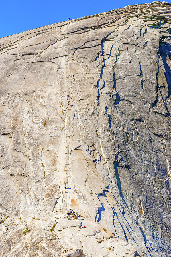 The Cables up Half Dome in Yosemite National Park by Marek Poplawski