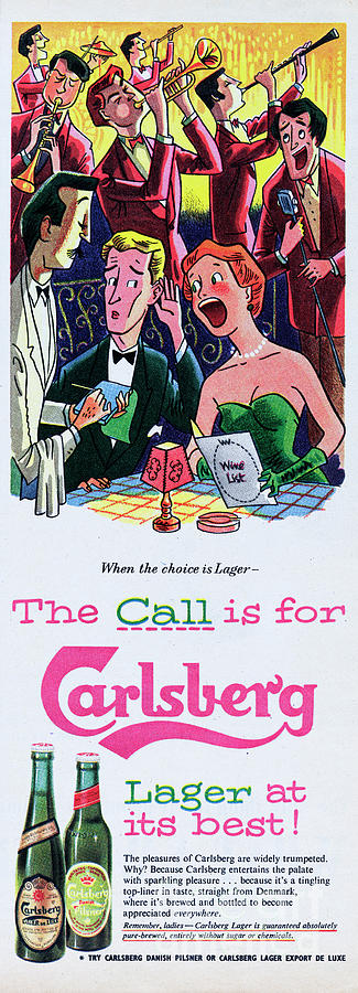 The Call Is For Carlsberg Photograph by Picture Post