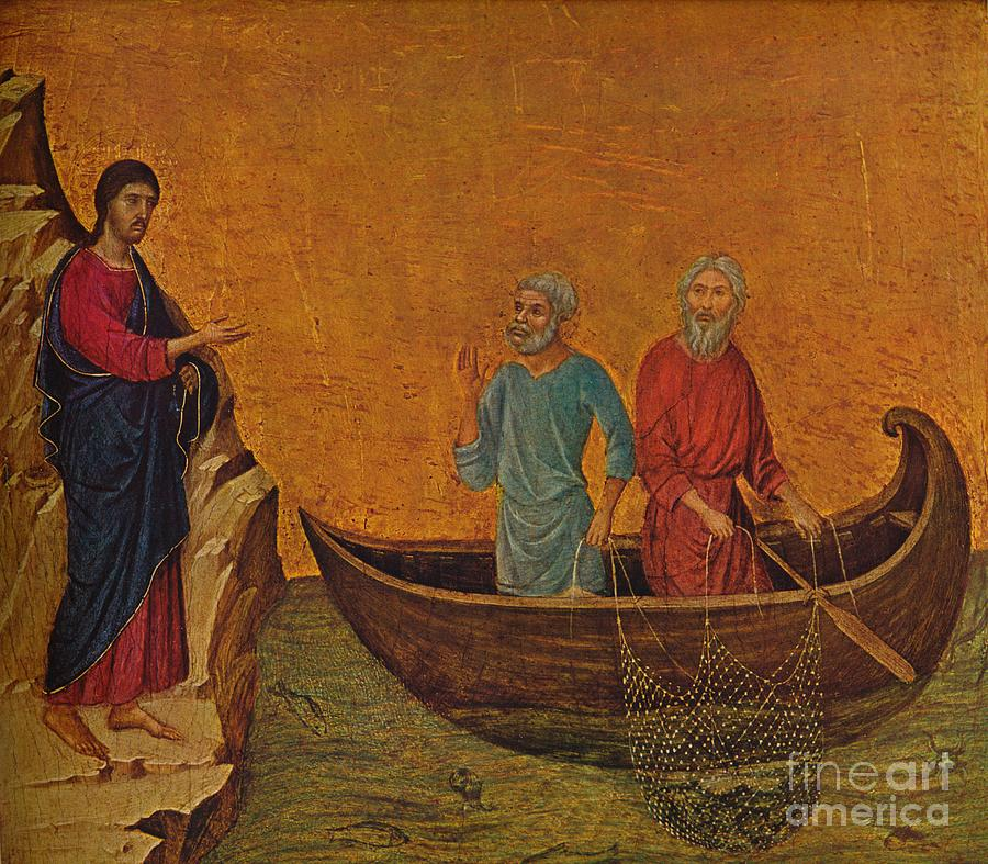 The Calling Of The Apostles Peter Drawing by Print Collector