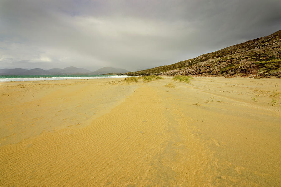 Luskentyre Beach Mixed Media - The Calm Before The Storm by Smart Aviation