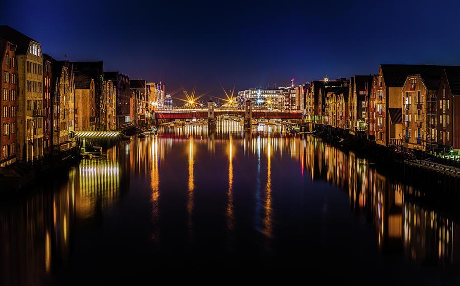 The Calm Trondheim Blue Nights by Aziz Nasuti