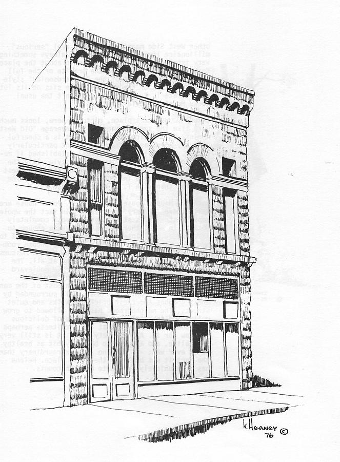 Helena Drawing - The Capital Transfer And Sands Brothers Building Helena Montana by Kevin Heaney