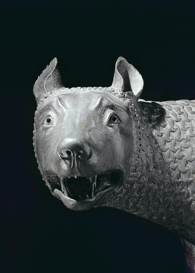 She Wolf Sculpture - The Capitoline She Wolf by Etruscan