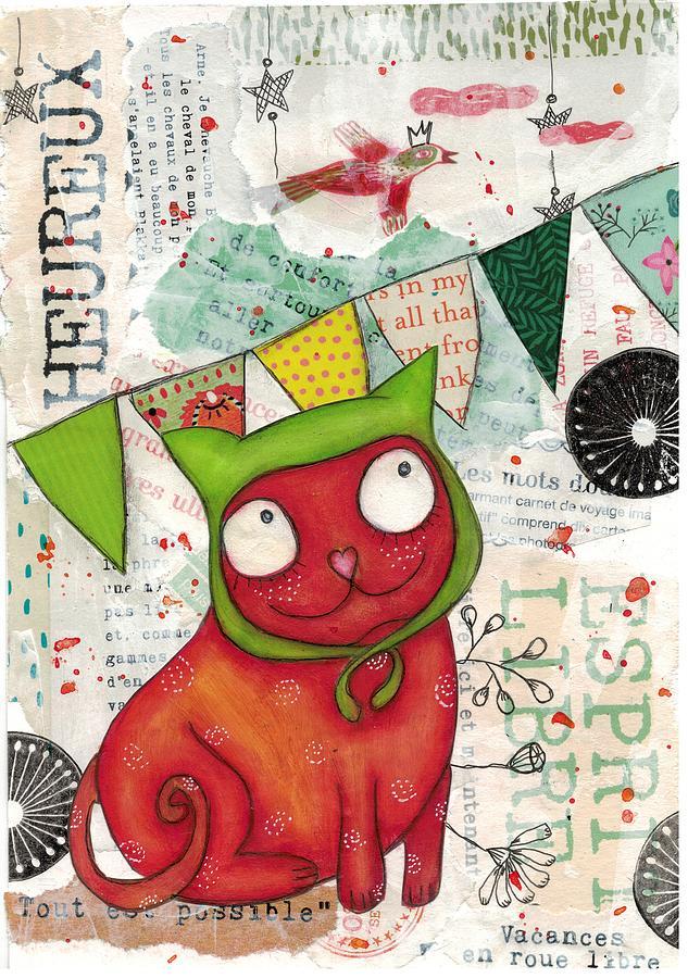 The capped cat by Barbara Orenya