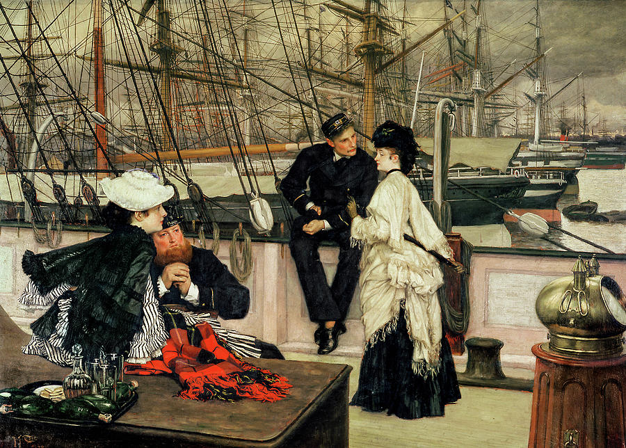 James Tissot Painting - The Captain And The Mate, 1873 by James Tissot