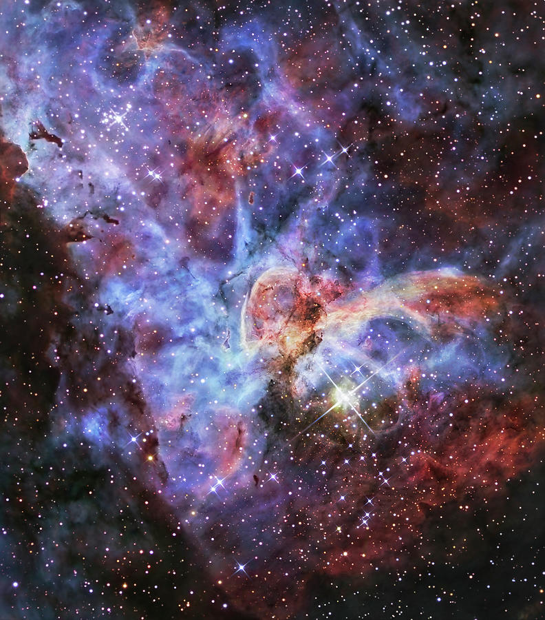 The Carina Nebula, Also Known As Ngc Photograph by Stocktrek Images