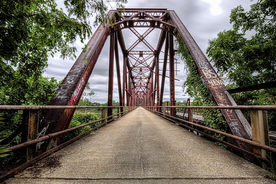 Texoma Photograph - The Carpenters Bluff Bridge by JC Findley