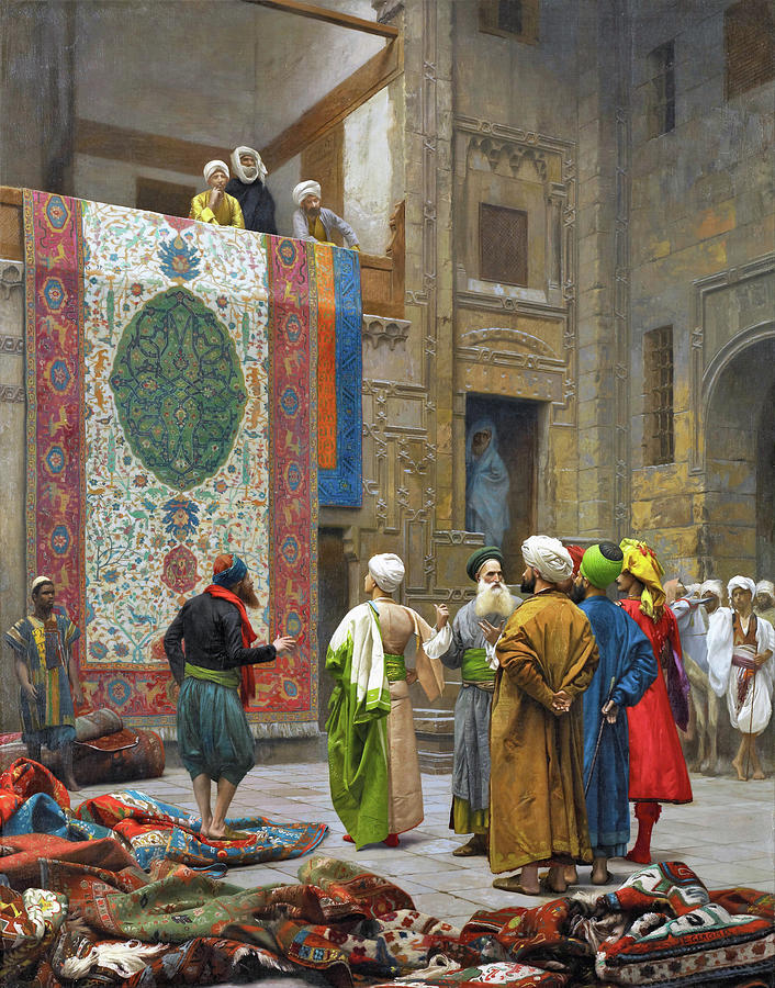 Jean Leon Gerome Painting - The Carpet Merchant - Digital Remastered Edition by Jean-Leon Gerome