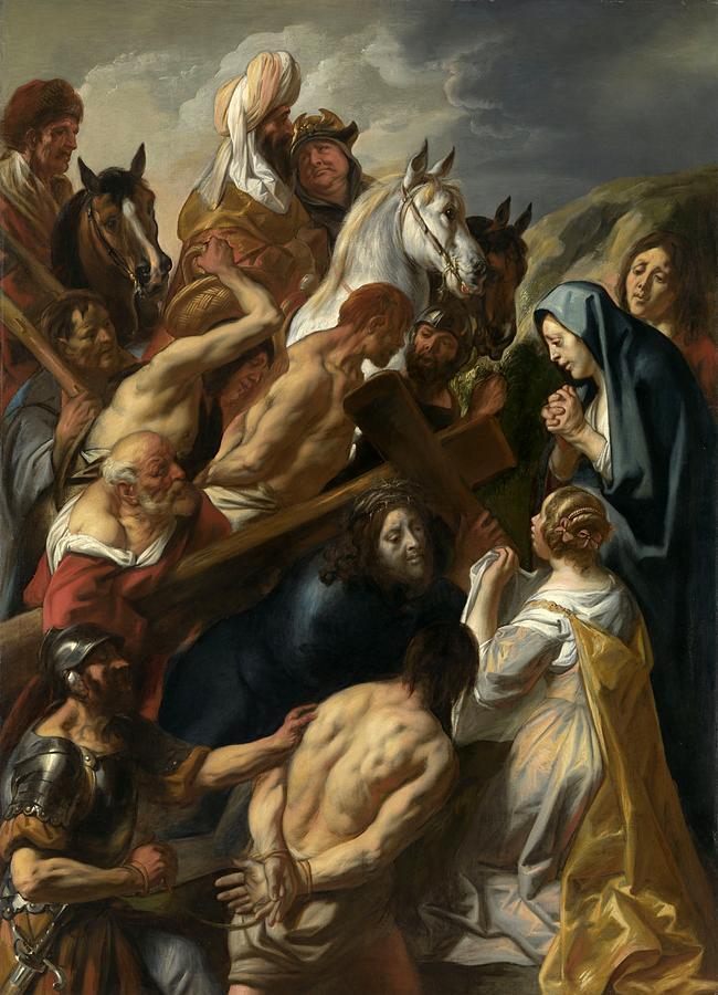 Jacob Jordaens Painting - The Carrying Of The Cross, 1657 by Jacob Jordaens