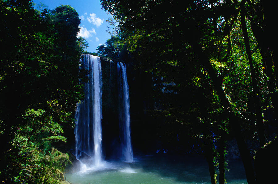 The Cascada Misol-ha With Its 35 Metre Photograph by Richard Ianson