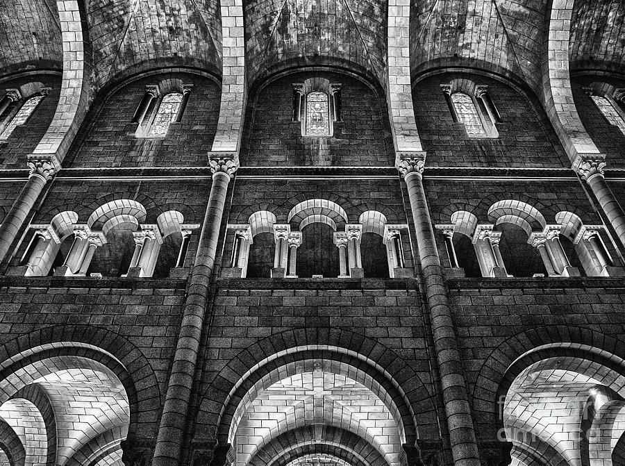 The Cathedral of Our Lady Immaculate, Monaco BW by Wayne Moran