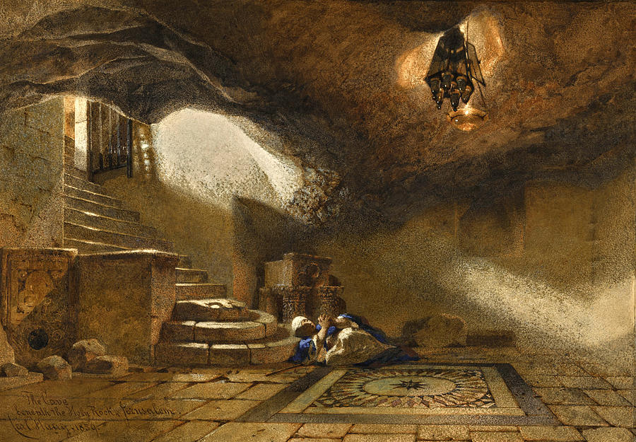 The Cave beneath the Holy Rock by Carl Haag