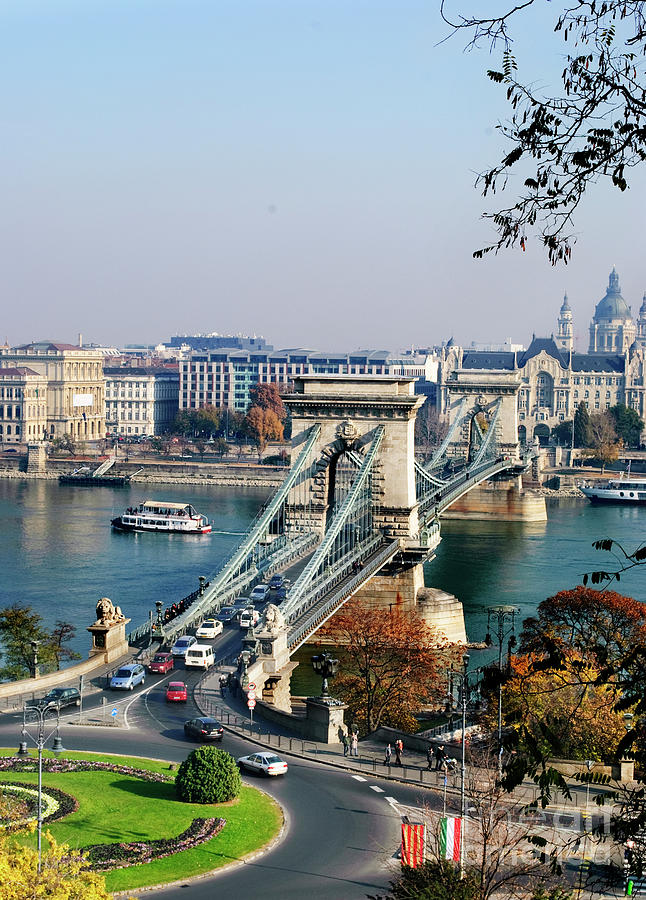 The Chain Bridge in Budapest by Jelena Jovanovic