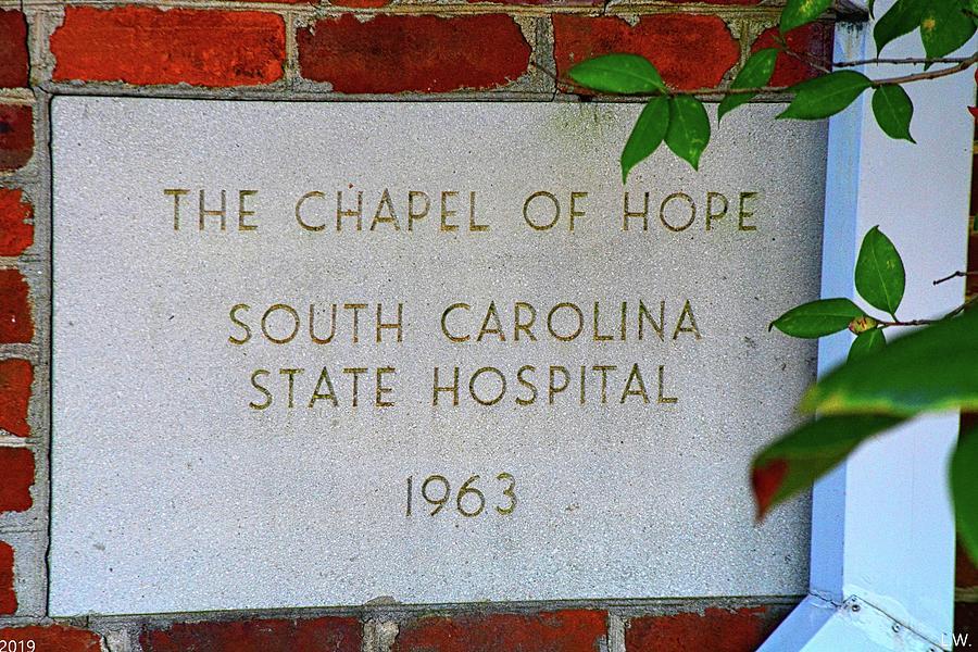 The Chapel Of Hope South Carolina State Hospital 1963 by Lisa Wooten