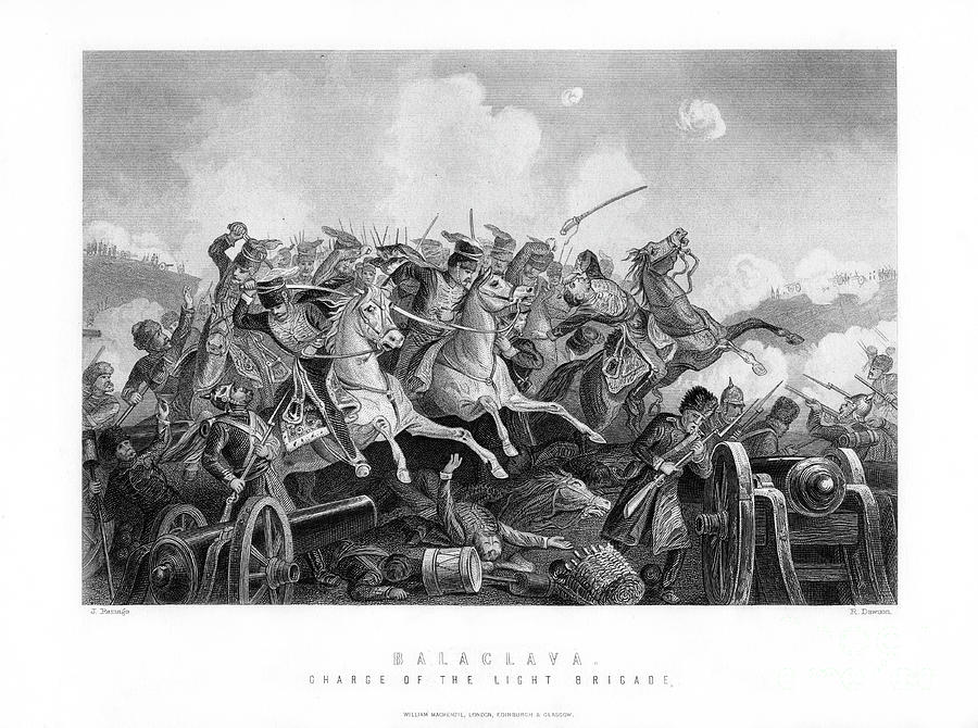 The Charge Of The Light Brigade, Battle Drawing by Print Collector
