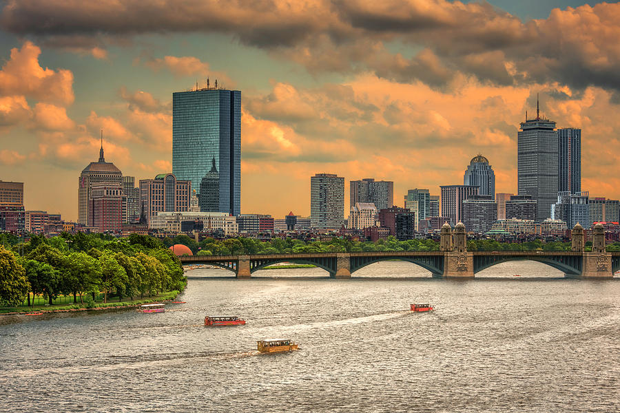 The Charles, Duck Boats and Boston's Back Bay by Thomas Gaitley