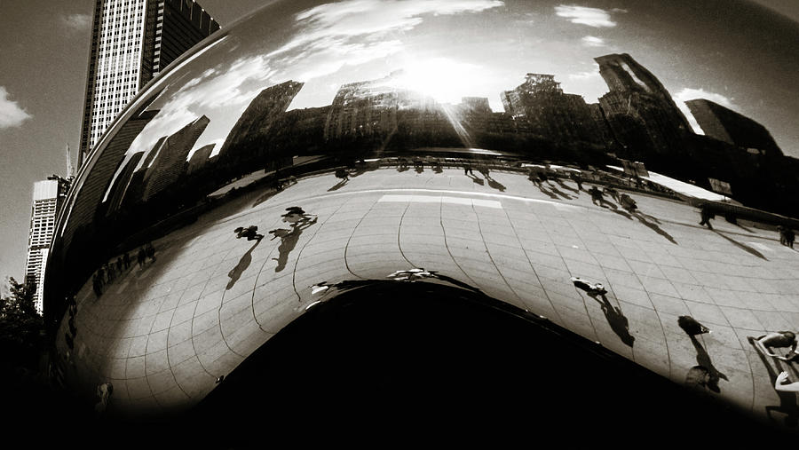 The Chicago Bean BW by Marilyn Hunt