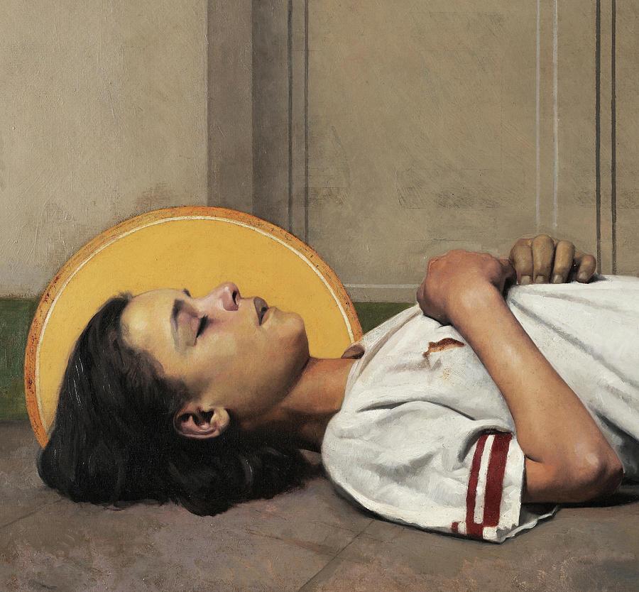 Ribeiro Painting - The Christian Martyr, 1879 by Joaquim Vitorino Ribeiro