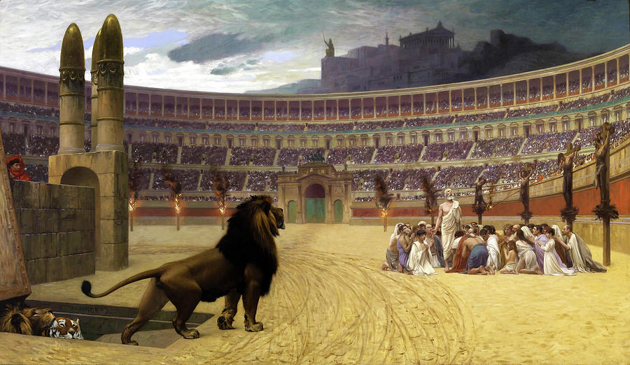 Jean Leon Gerome Painting - The Christian Martyrs Last Prayer - Digital Remastered Edition by Jean-Leon Gerome