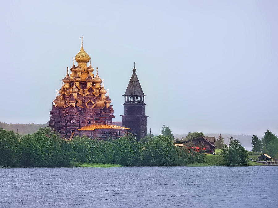 The Church of the Transfiguration, Kizhi, Russia by Kay Brewer