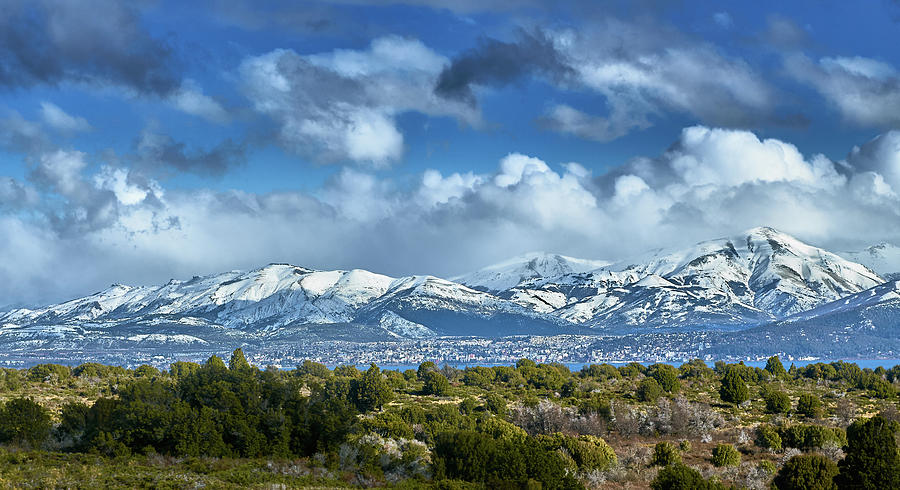 The city of Bariloche surrounded by mountains by Eduardo Jose Accorinti