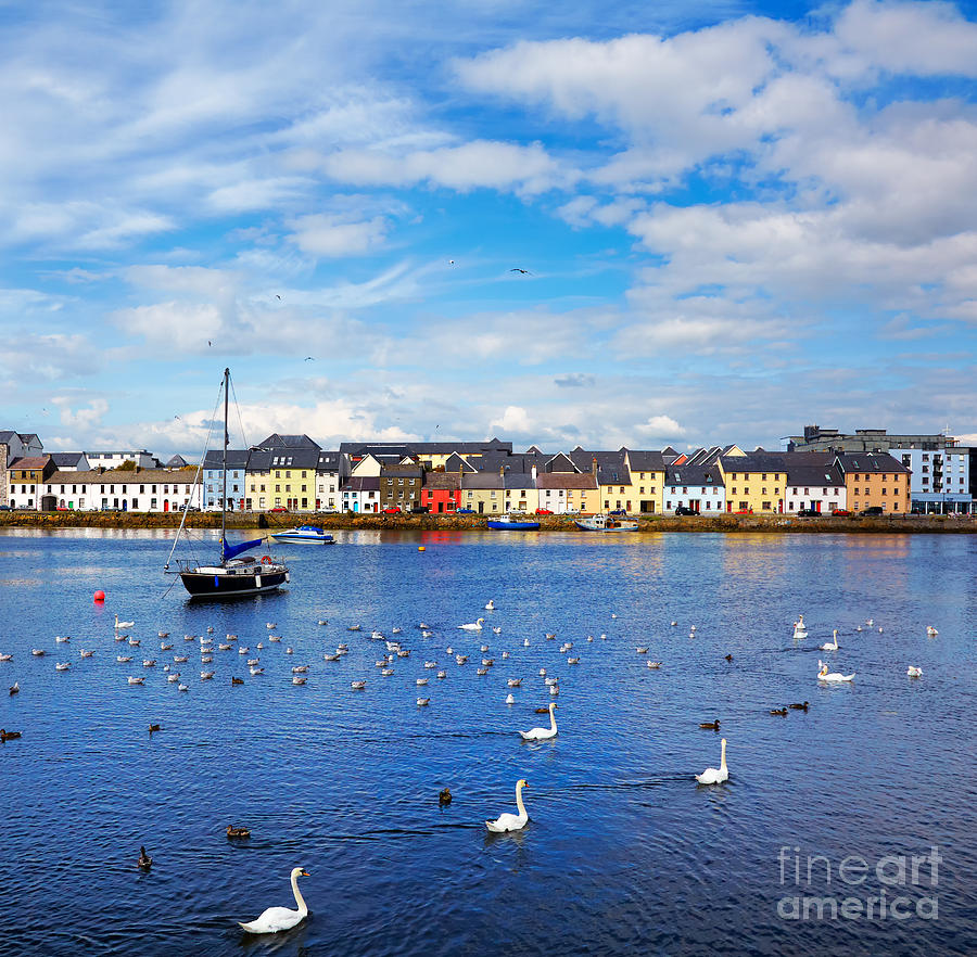 Claddagh Photograph - The Claddagh In Galway City During by Gabriela Insuratelu