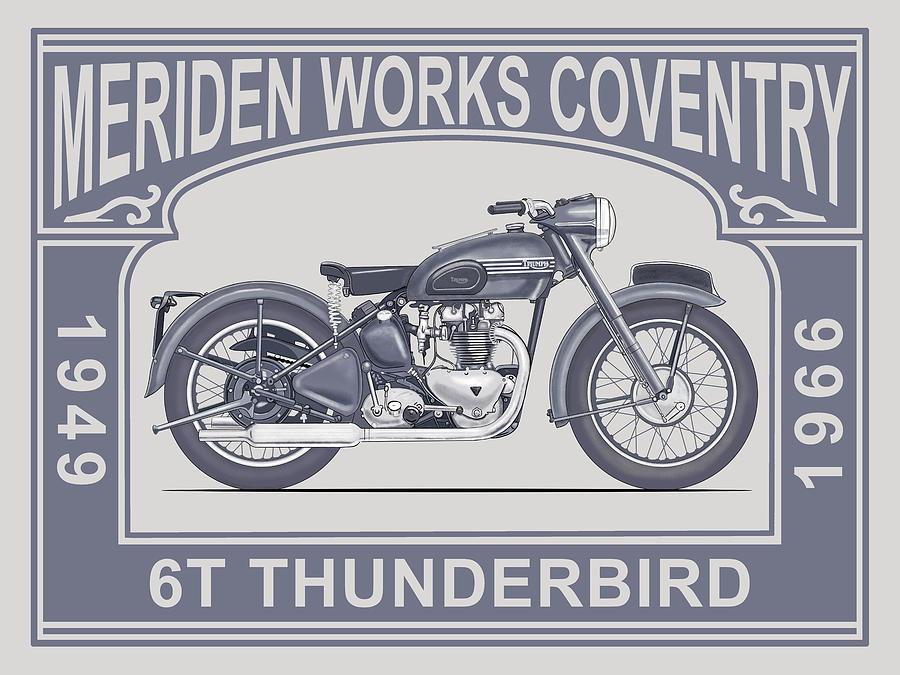 Vintage Motorcycle Photograph - The Classic Thunderbird Motorcycle by Mark Rogan
