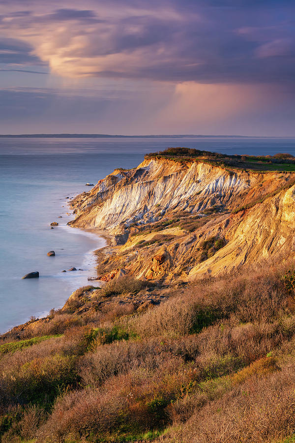 The Cliffs at Aquinnah - Vertical by Michael Blanchette