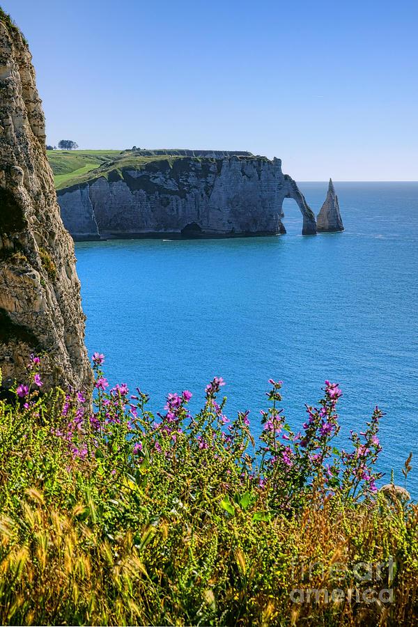 Needle Photograph - The Cliffs Of Etretat by Olivier Le Queinec