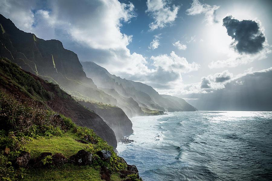 Kauai Photograph - The Cliffs Of Kalalau by Tim Newton