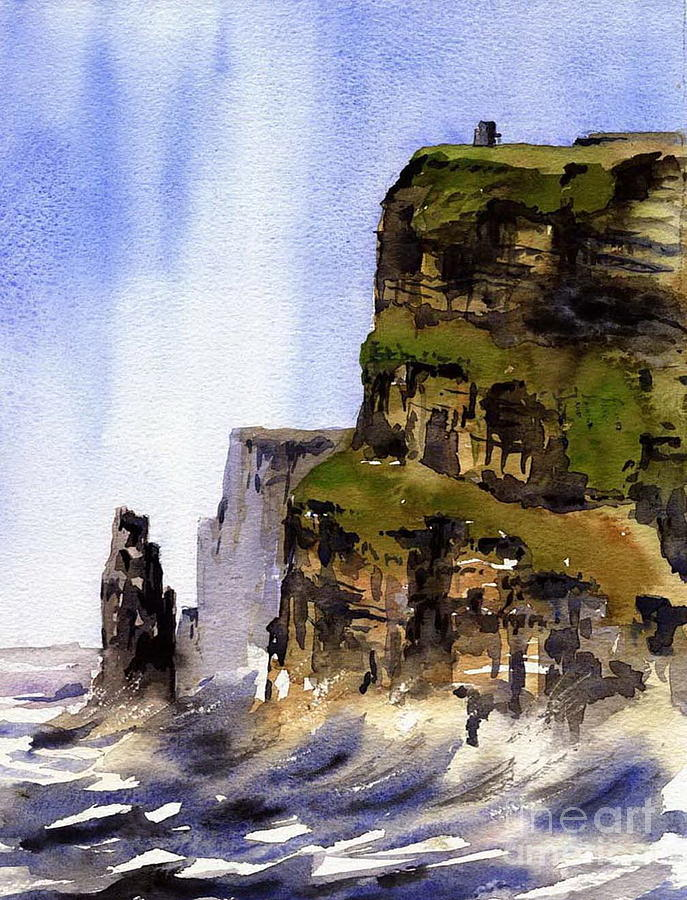 The Cliffs of Moher, Co. Clare by Val Byrne