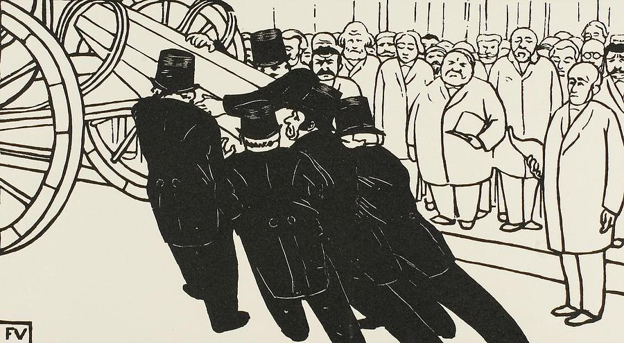 The Coffin Bearers by Felix Edouard Vallotton