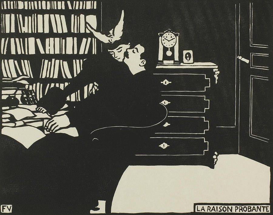 The Cogent Reason, plate four from Intimacies by Felix Edouard Vallotton
