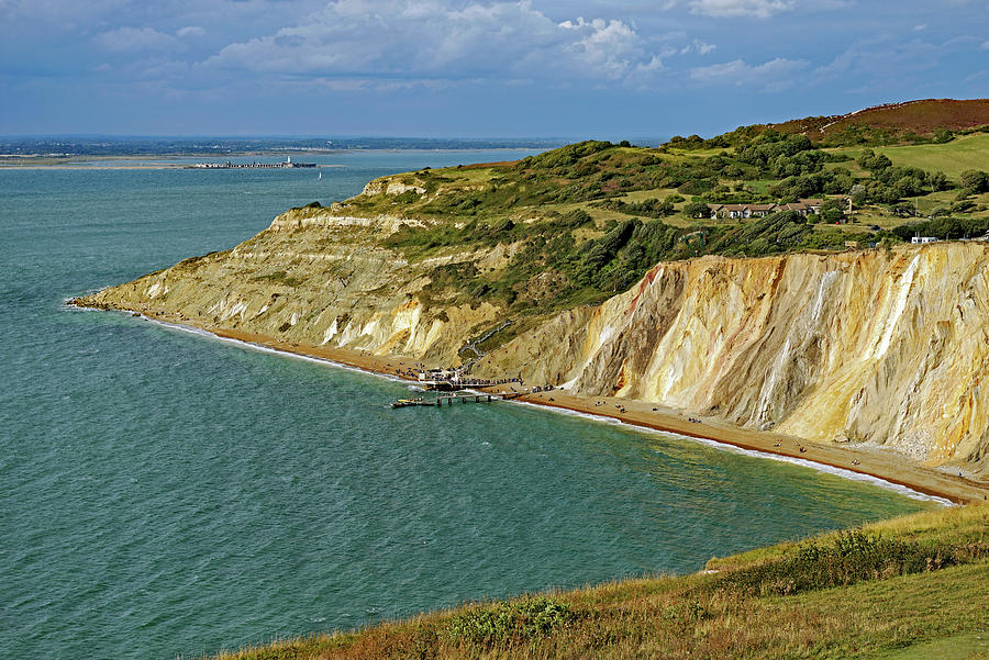 The Coloured Sand Cliffs of Alum Bay by Rod Johnson