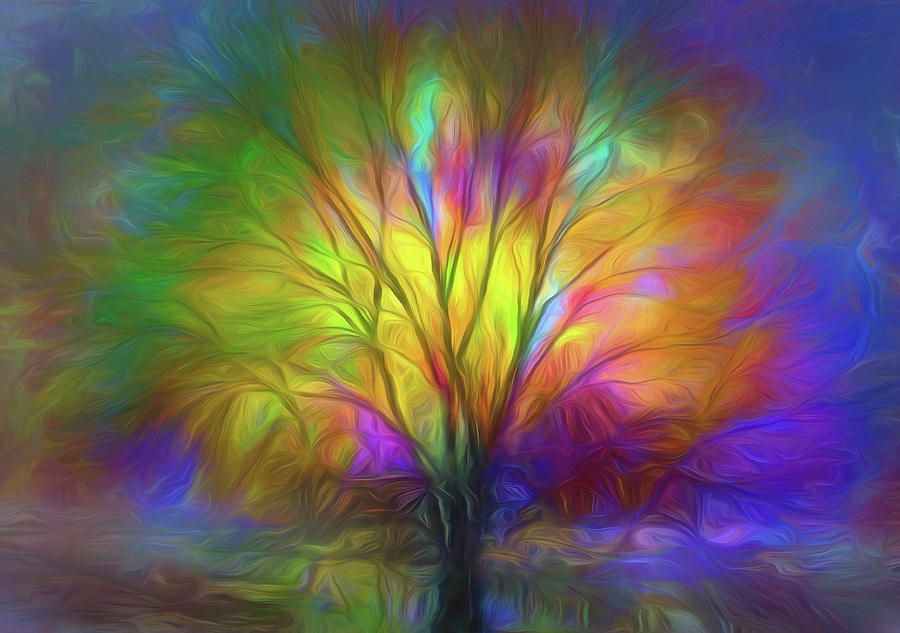 Tree Digital Art - The Colours Of Our Dreams by Tara Turner