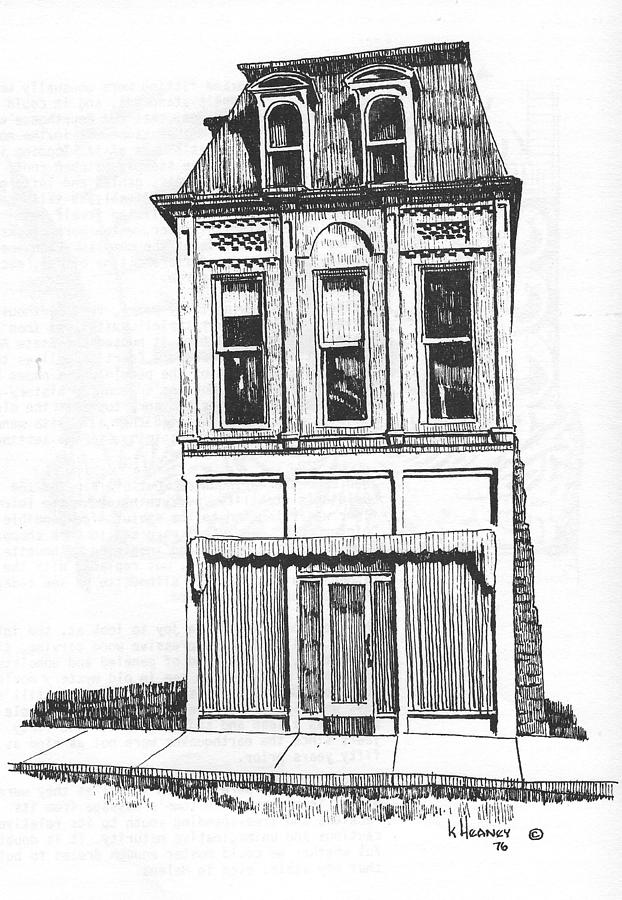 Helena Drawing - The Colwell Building Helena Montana by Kevin Heaney
