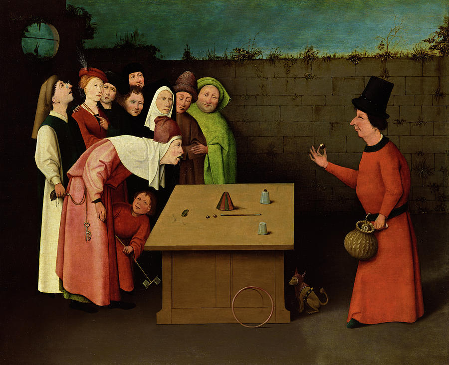 Hieronymus Bosch Painting - The Conjurer, 1525 by Hieronymus Bosch