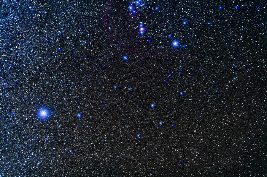 The Constellation Of Lepus, Below Orion Photograph by Alan ...
