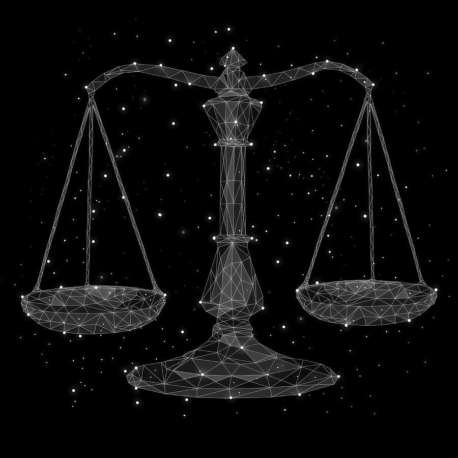 The Constellation Of Libra Digital Art by Malte Mueller