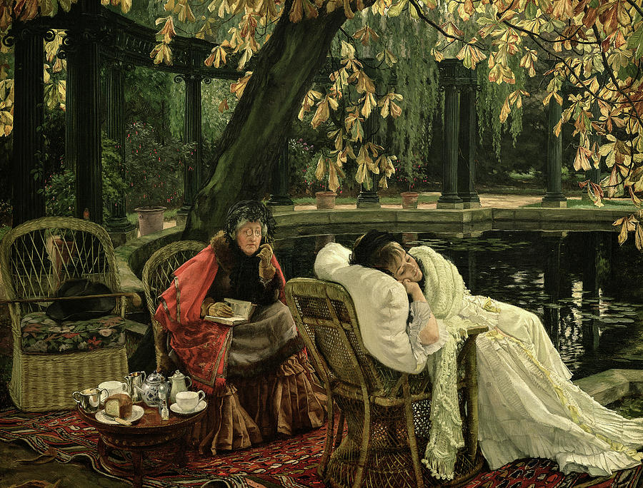 James Tissot Painting - The Convalescent, 1876 by James Tissot