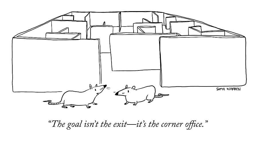 The Corner Office Drawing by Sofia Warren