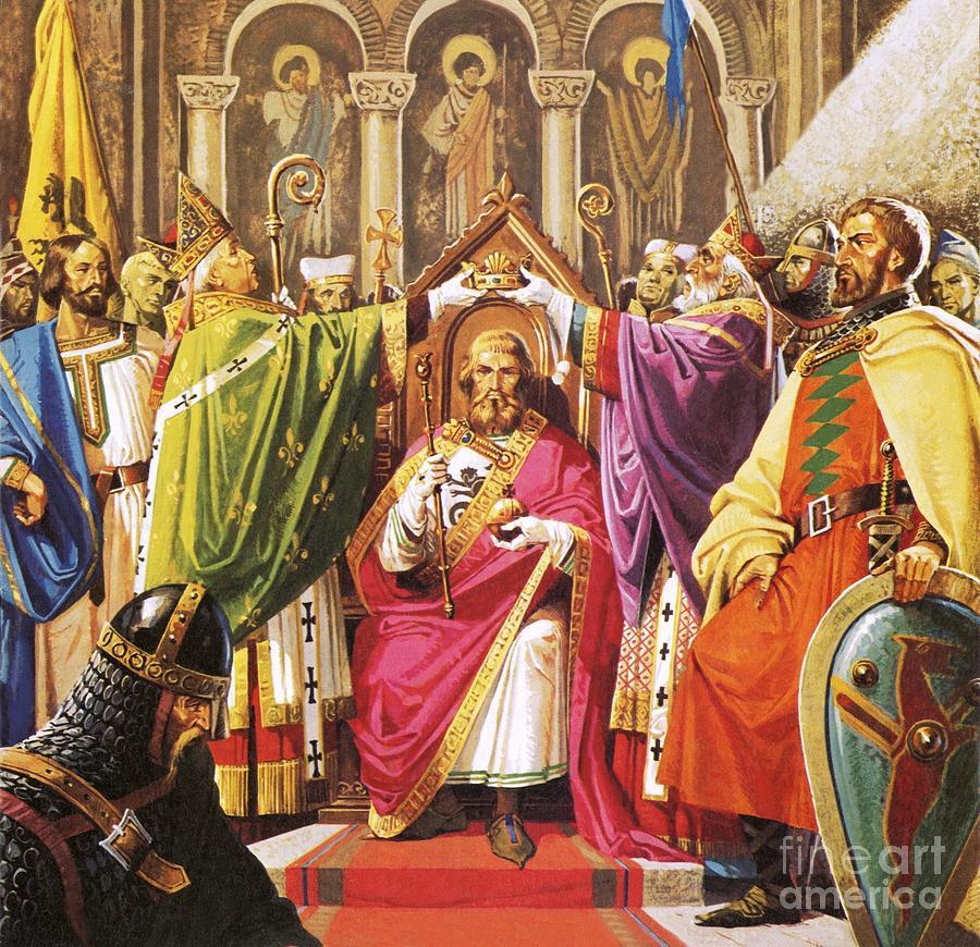 The Coronation Of William The Conqueror Painting by Severino Baraldi