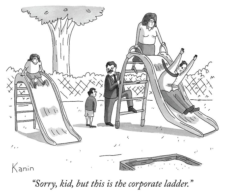 The corporate ladder Drawing by Zachary Kanin