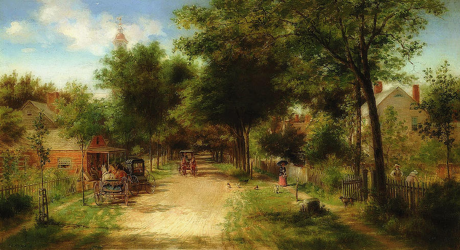 Painting Painting - The Country Store by Edward Lamson Henry