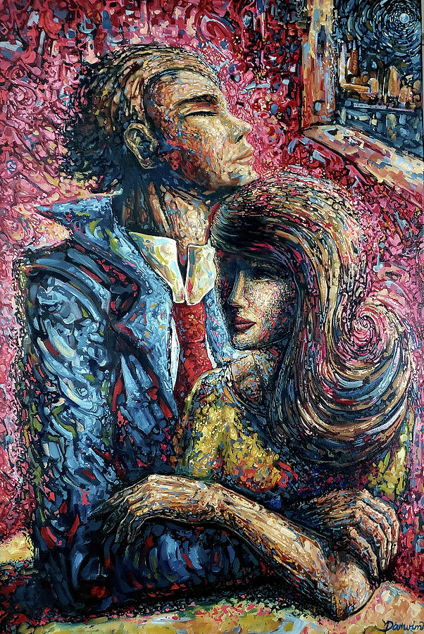 Surrealism Painting - The Couple by Darwin Leon